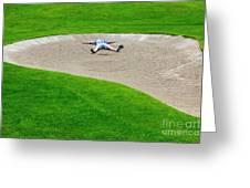 Desperate Golfer Greeting Card