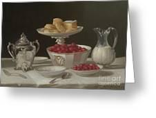 Dessert Still Life, 1855 Greeting Card