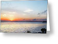 Destin Sunset Over The Bay Greeting Card