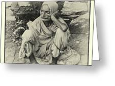 Destitute On The Ganges Greeting Card