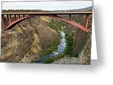 Desutches River Bridge Greeting Card
