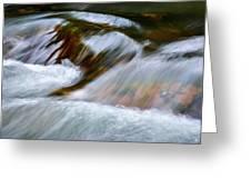 Detail Cascade Fall River Greeting Card
