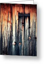 Detail Of An Old Wooden Door Greeting Card