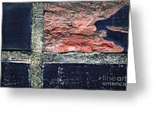 Detail Of Damaged Wall Tiles Greeting Card
