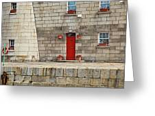 Detail Of Howth Lighthouse Greeting Card