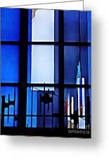Detail Of Modern Johannes Schreiter Window Mainz 2 Greeting Card