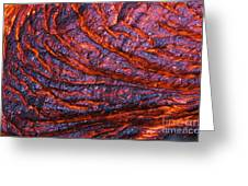 Detail Of Molten Lava Greeting Card