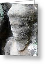 Detail Of Stone Carving Near Angkor Wat, Cambodia Greeting Card