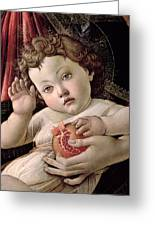 Detail Of The Christ Child From The Madonna Of The Pomegranate  Greeting Card