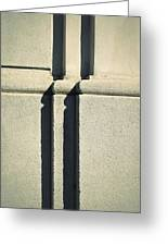 Detail Stone Pillars With Shadow Greeting Card
