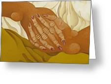 Detailed  The Hands  The Seated Gipsy  2009 Greeting Card