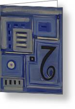 Details In Blue Greeting Card