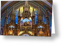 Details Notre Dame Montreal Greeting Card