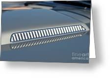 Details On Hood Of 1966 Chevrolet Corvette Sting Ray 427 Turbo-jet Greeting Card
