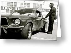 Detective Lieutenant Frank Bullitt, Steve Mcqueen, 1968 Ford Mustang Gt 390 Greeting Card