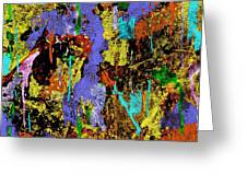Detour Abstract Art Greeting Card
