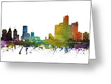 Detroit Cityscape 01 Greeting Card