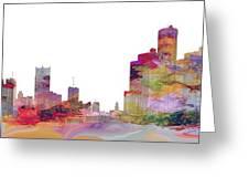 Detroit Colors Greeting Card