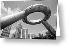 Detroit Dodge Fountain Hart Plaza Greeting Card