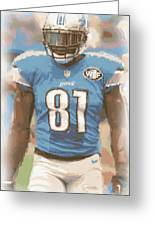 Detroit Lions Calvin Johnson 1 Greeting Card