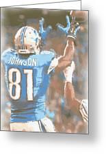 Detroit Lions Calvin Johnson 2 Greeting Card