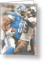 Detroit Lions Calvin Johnson 4 Greeting Card