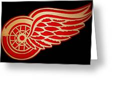 Detroit Red Wings - Scrolled Greeting Card