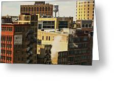 Detroit Steam City Greeting Card