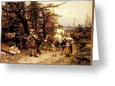 Detti Cesare Auguste A Halt Along The Way Greeting Card