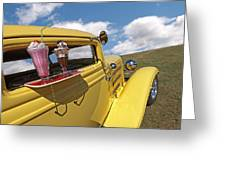 Deuce Coupe At The Drive-in Greeting Card