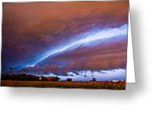 Developing Nebraska Night Shelf Cloud 007 Greeting Card