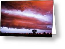 Developing Nebraska Night Shelf Cloud 009 Greeting Card