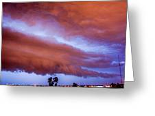 Developing Nebraska Night Shelf Cloud 011 Greeting Card