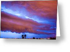 Developing Nebraska Night Shelf Cloud 012 Greeting Card