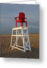 Devereux Beach Lifeguard Chair Marblehead Ma Greeting Card