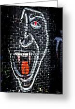 Devil Face Graffiti Greeting Card
