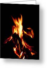 Devil Fire Greeting Card