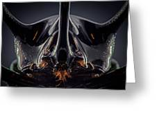 Devil Horn Focus Stack Greeting Card