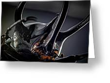 Devil Horns Macro Greeting Card