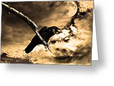 Devil In The Clouds Greeting Card