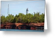 Devils Island Apostle Islands Lighthouse Greeting Card