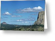 Devils Tower And The Missouri Hills Greeting Card