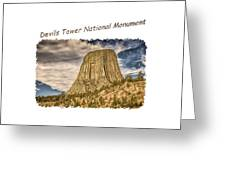 Devils Tower Inspiration 2 Greeting Card