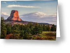 Devil's Tower Morning Greeting Card