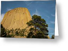 Devils Tower One Greeting Card