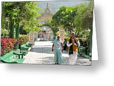 Devotees In Rishikesh India Greeting Card