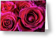 Dewy Rose Bouquet Greeting Card