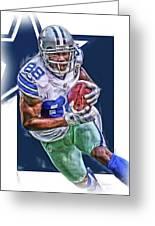 Dez Bryant Dallas Cowboys Oil Art Greeting Card