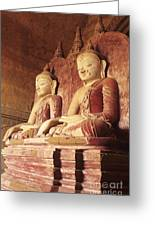 Dhammayangyi Temple Buddhas Greeting Card