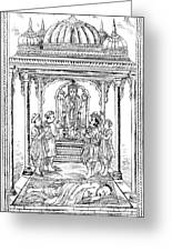 Dhanvantari, God Of Ayurvedic Medicine Greeting Card